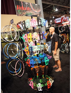 Velocity also showed off a mountain of colours for their new high-value nylon bottle cage