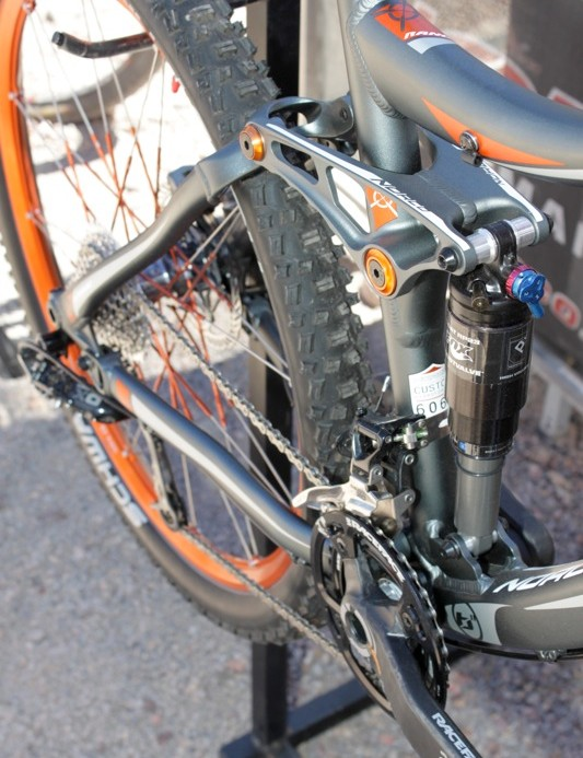 Cartridge bearings and alloy covers grace the frame's pivots