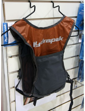 Hydrapak's ultra-minimal E-Lite Vest carries just the bare essentials: 1L of fluid and a few strap-mounted pockets for energy gels and the like