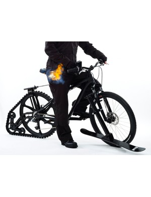 The BOND Bike has a sideways-firing flamethrower to discourage other vehicles from getting too close