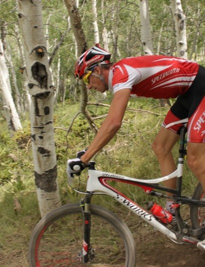 Wells on his S-Works Epic 29er during July's national championships in Granby, CO