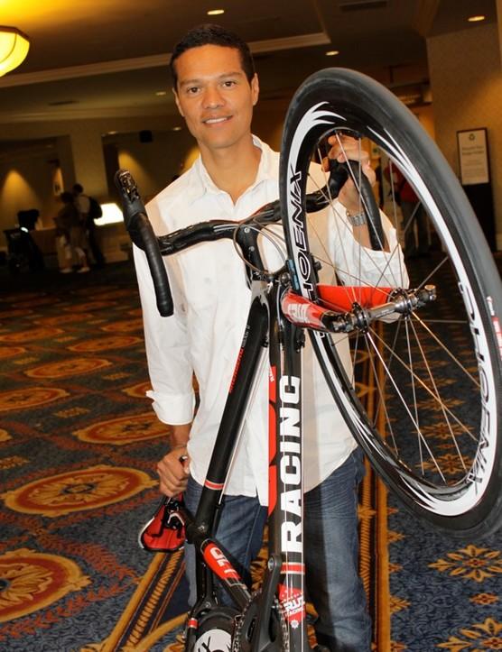 Tony Cruz with his new bike