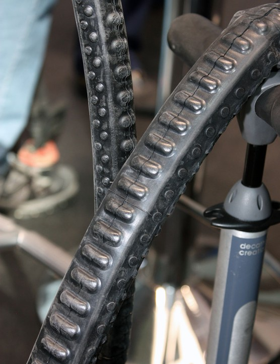 Michelin's new Protek Max inner tubes are said to self-seal punctures thanks to the pre-loaded sealant and the unique shape which reportedly tends to squeeze holds shut