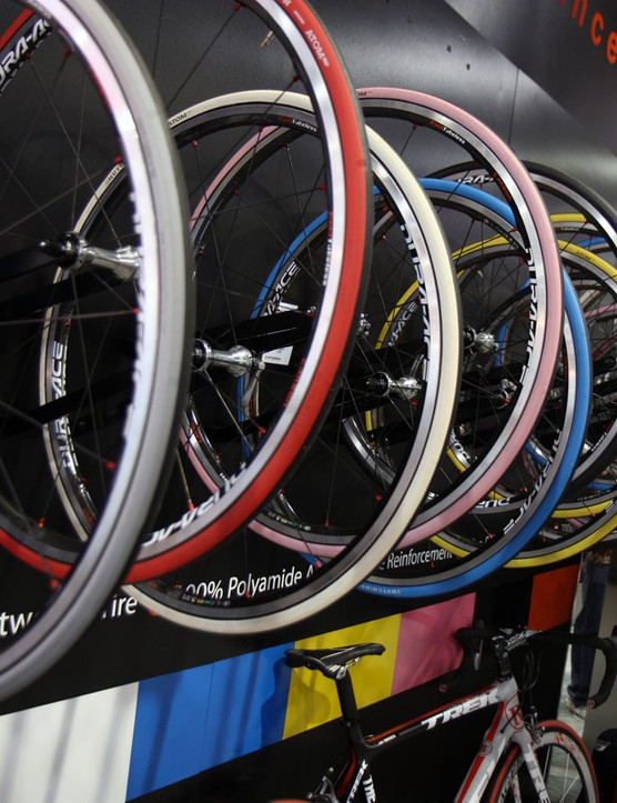Hutchinson road tyres are offered in a wide range of colours for 2011