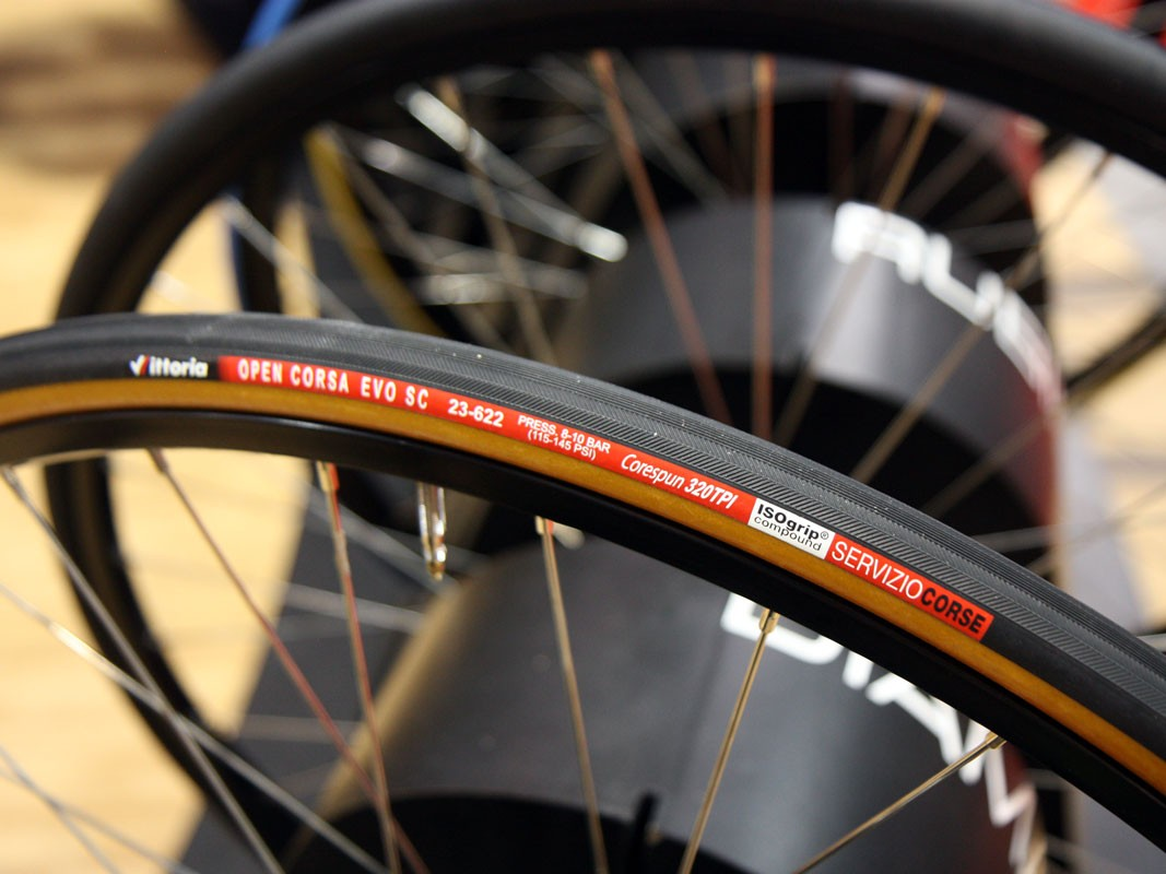 Fancy a more traditional look? Vittoria's new handmade Corsa Evo SC sports a tan sidewall