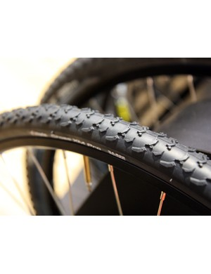 The Vittoria Cross Evo XM's taller and more open tread pattern is aimed at muddier or looser courses