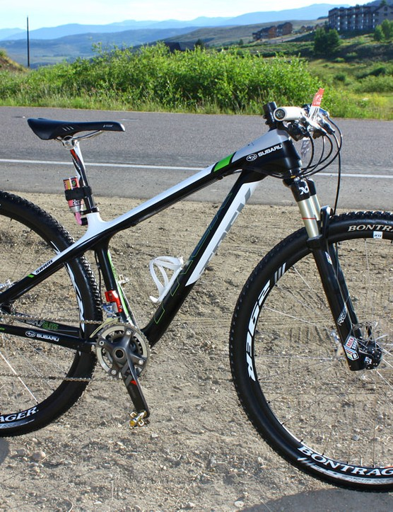 Willow Koerber (Subaru-Trek) is now racing exclusively on a 29er and getting great results on it, too, despite her diminutive size