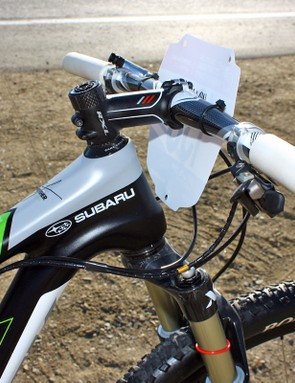 A -12° stem is required to get the bars at the right height