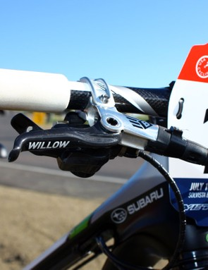 You know you're big time when SRAM include your name under the clearcoat on your brake levers