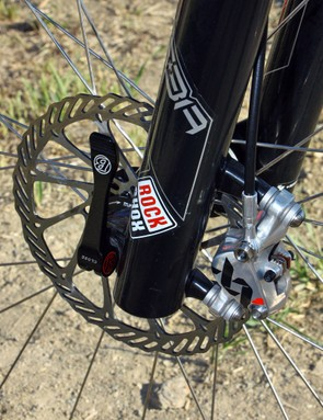 Standard Avid G3 rotors are used on the team's US domestic rigs instead of the lighter XX ones on the European ones simply due to insufficient stock, according to mechanic Matt Opperman