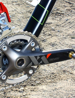 39/26T chainrings are fitted to the 170mm-long Truvativ XX crankarms
