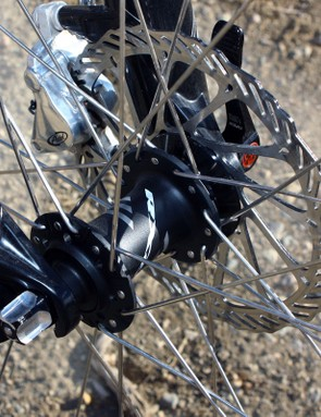 Bontrager hubs are used front and rear