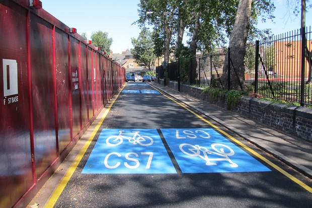Two new Cycle Superhighways will join the existing routes, including this section in Elephant and Castle