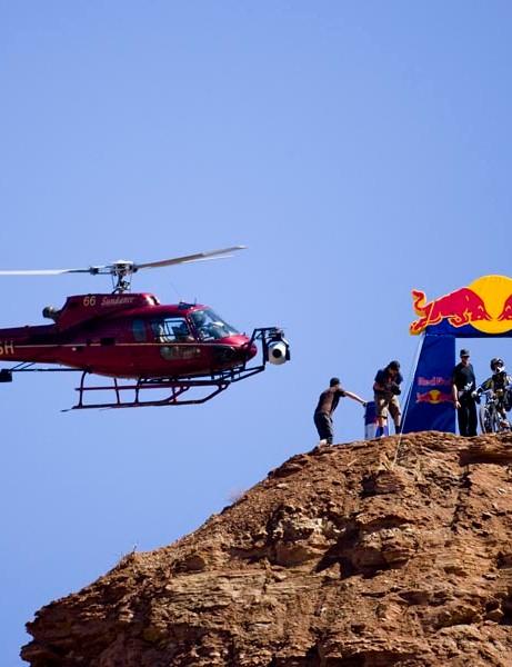 Logan Binggeli takes to the Red Bull Rampage course in 2008