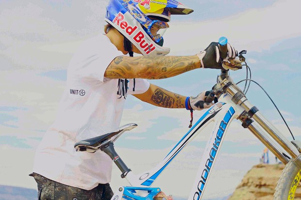 Andreu Lacondeguy is competing at this weekend's Red Bull Rampage aboard his new Mondraker