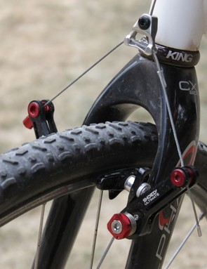 Even with the straddle cable set high to increase rim clearance, the Shorty Ultimate provides good power