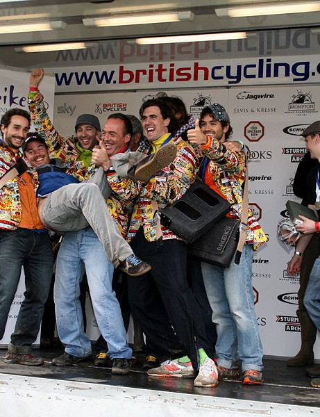 Caproblema, the winning team in the Brompton World Championships at Bike Blenheim Palace