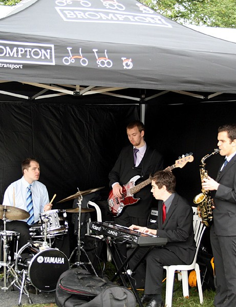 This jazz band kept people entertained at the Brompton tent