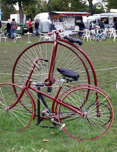 Part of the Vintage bike display