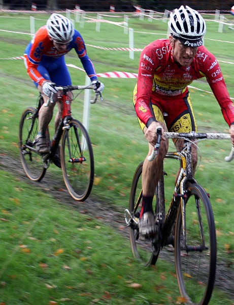 The two leaders in the cyclo-cross
