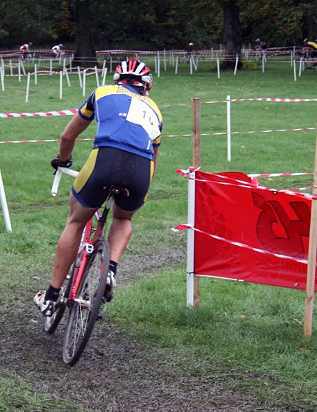 Action from the cyclo-cross