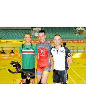Enduro riders before the start