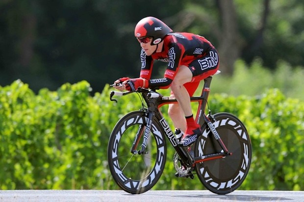 BMC Racing Team member and Bobcat alum, Brent Bookwalter excelled in time trials this season