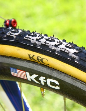 Katie Compton (Planet Bike-Stevens Bikes) has a number of Dugast tyres available to suit the day's conditions