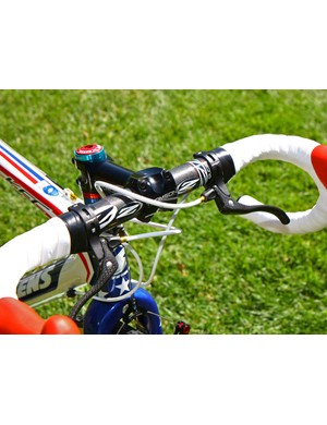 TRP's top-mount brake levers add minimal weight with their pared-down clamps and carbon fibre blades