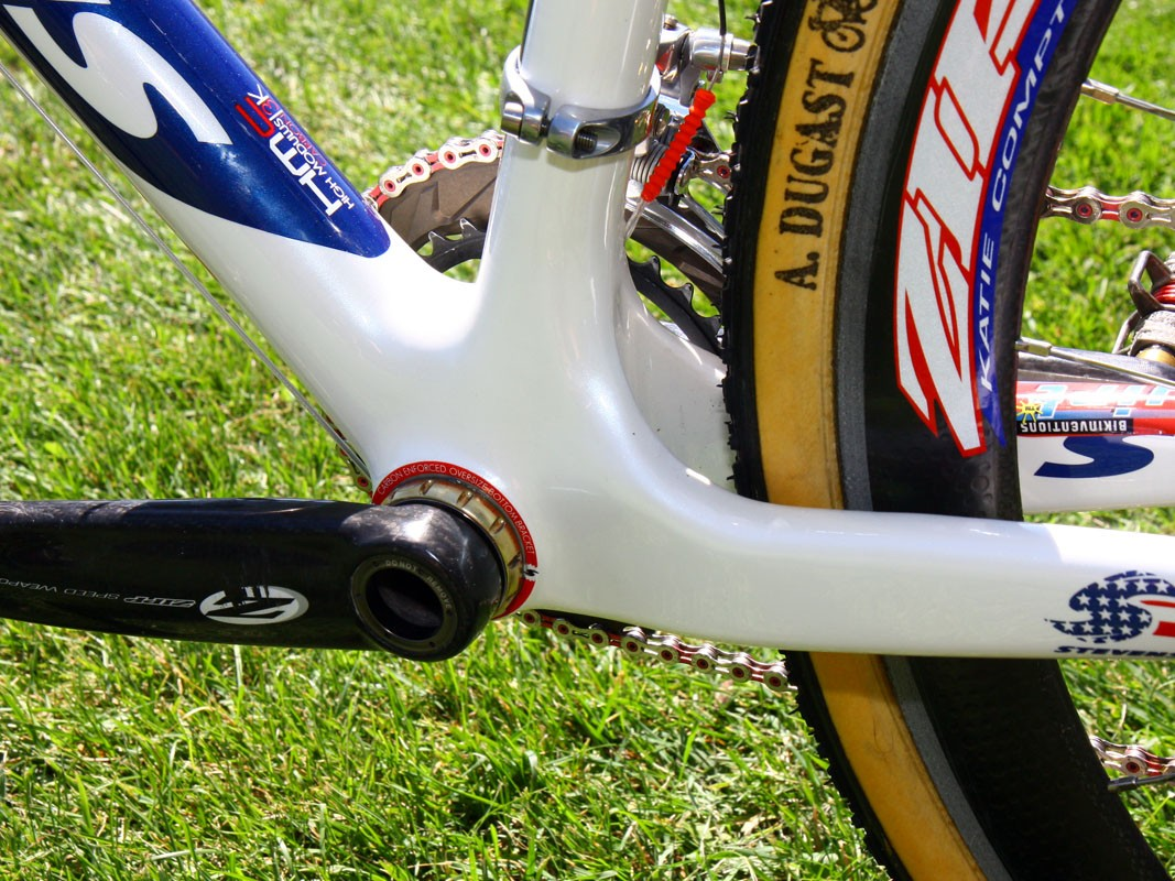 Giant chainstays? Check. Well reinforced bottom bracket area? Check