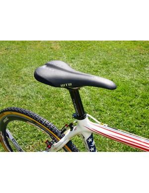 Katie Compton (Planet Bike-Stevens Bikes) has long preferred WTB Silverado saddles and Thomson seatposts