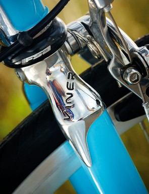 When you're not riding the Divina, you can spend  many a happy hour polishing its super shiny parts  like the fork crown