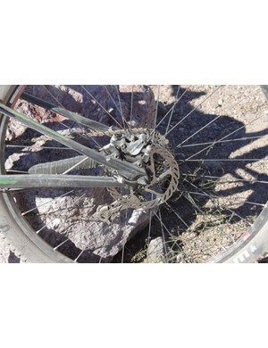 A look at the chain and seatstay junction