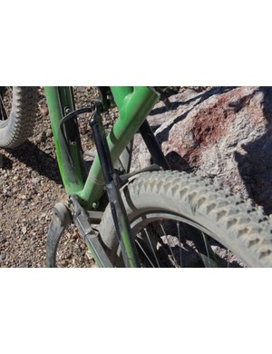 The rear end of the Spearfish offers clearance to WTB's 2.2in Wolverine 29er tire
