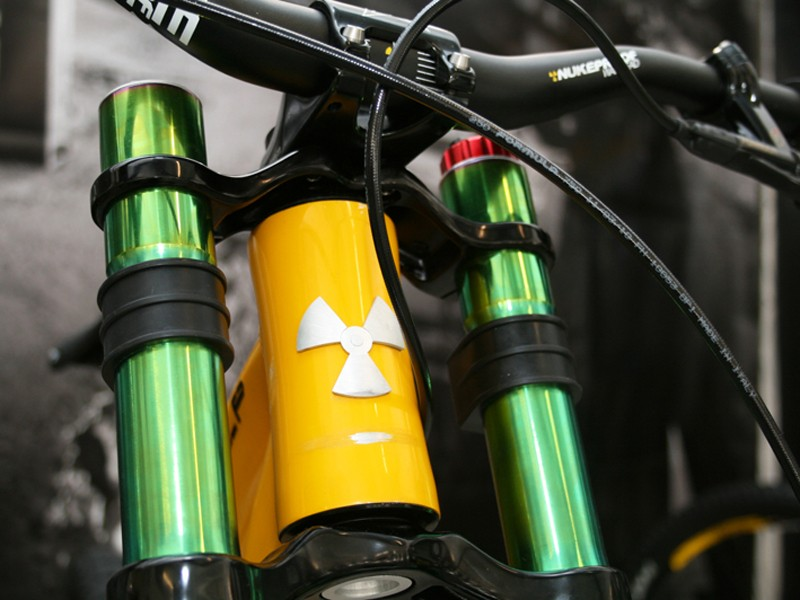 Nukeproof Scalp prototype downhill bike