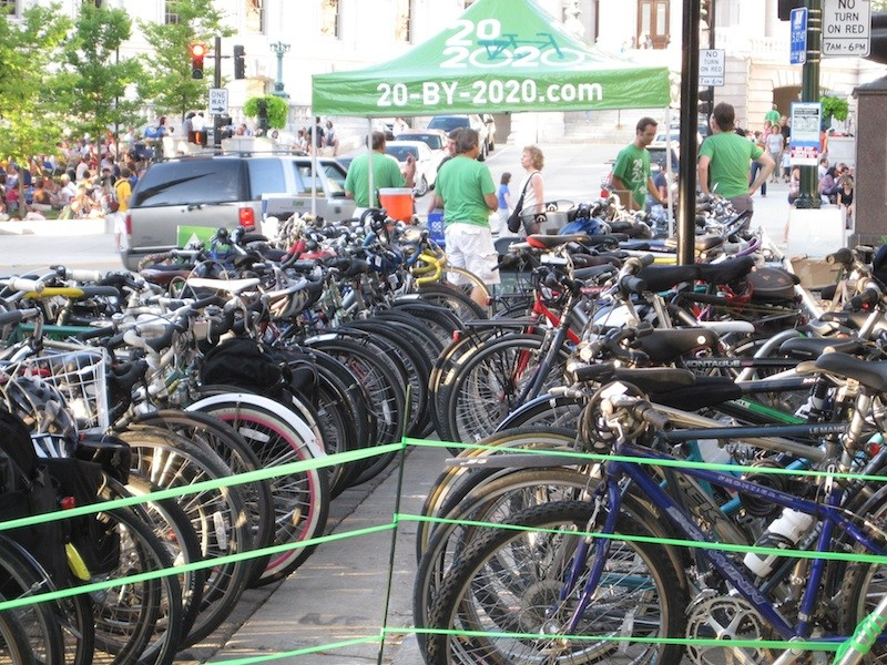 Fortune sees bike valets as a way to encourage bike use and get a message to the riding public