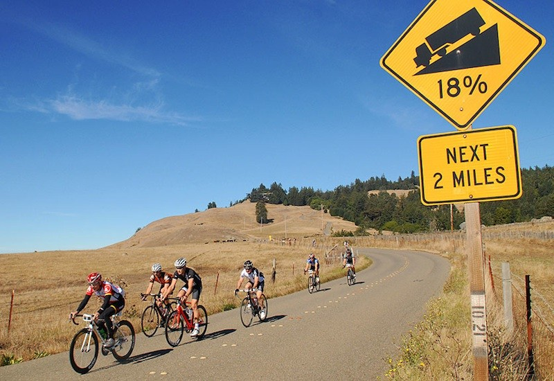 Riders had a spectacular day to enjoy Sonoma county's scenery