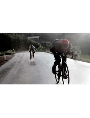 Rapha Rain Jacket, Knitted Winter Hat and Winter Tights
