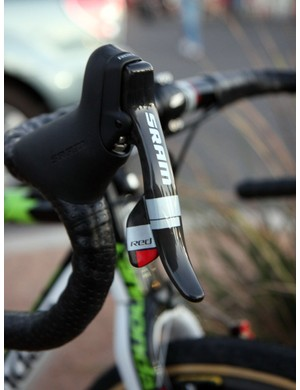 SRAM continue to provide much of the operating hardware for the Cannondale-CyclocrossWorld.com team