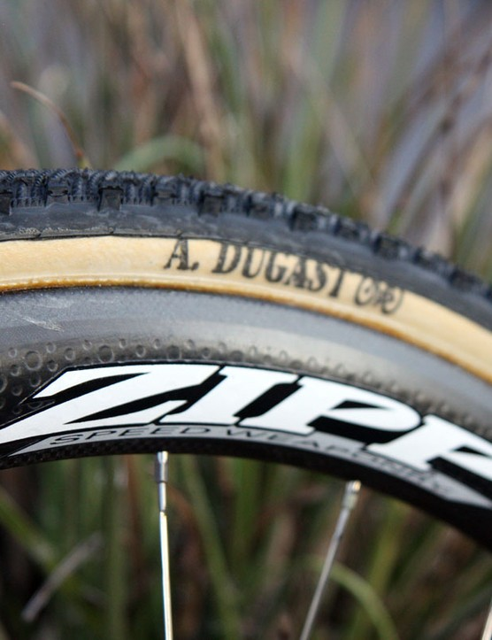 Zipp's latest 303 carbon tubulars have proven themselves tough enough for the arduous Spring Classics and are now also a favourite among 'cross racers not only for their strength but also the wider and more supportive tyre bed