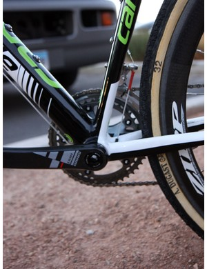 The flattened seat tube on Cannondale's new SuperX supposedly helps in the vertical flex department