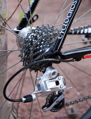 Like most SRAM-equipped 'cross riders, Tim Johnson (Cannondale-CyclocrossWorld.com) chooses the company's second-tier PG-1070 cassette for its better performance in mud