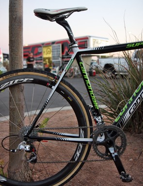 Both the chainstays and seatstays on Cannondale's new SuperX 'cross racer are flattened to provide more rider comfort and improve tyre traction