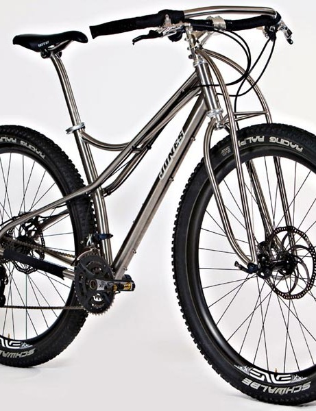 And here's the titanium version of Jeff Jones' steel Spaceframe and Truss fork