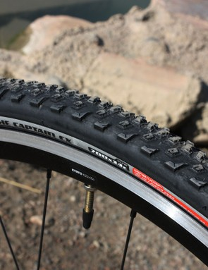 The Specialized Captain CX Pro tires are grippy in the rough but a tad squirmy on hard surfaces