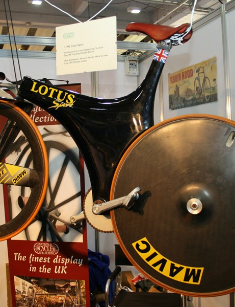 The National Cycling Museum Trust were displaying Chris Boardman's 1992 Olympic time trial bike