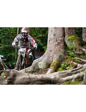 Tracy earlier in the year at the Leogang World Cup round