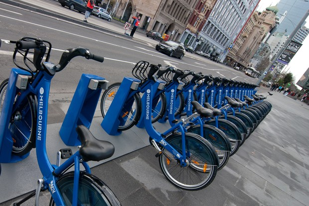 Brisbane has followed the example of Victoria and introduced a public bike hire scheme