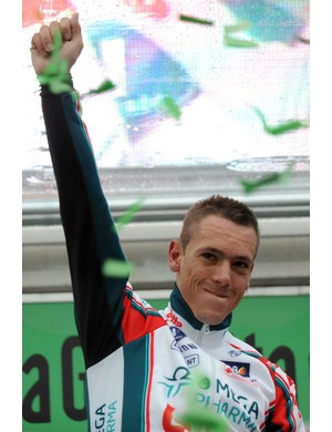 Philippe Gilbert on the podium