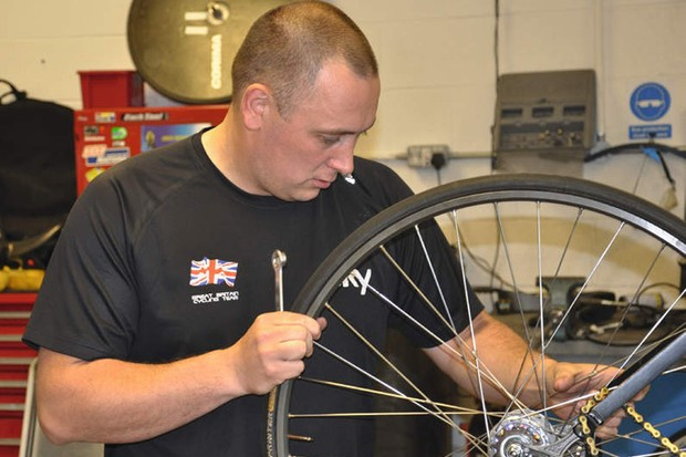 Peter 'Spike' Taylor is holding bike maintenance workshops for beginners and intermediates